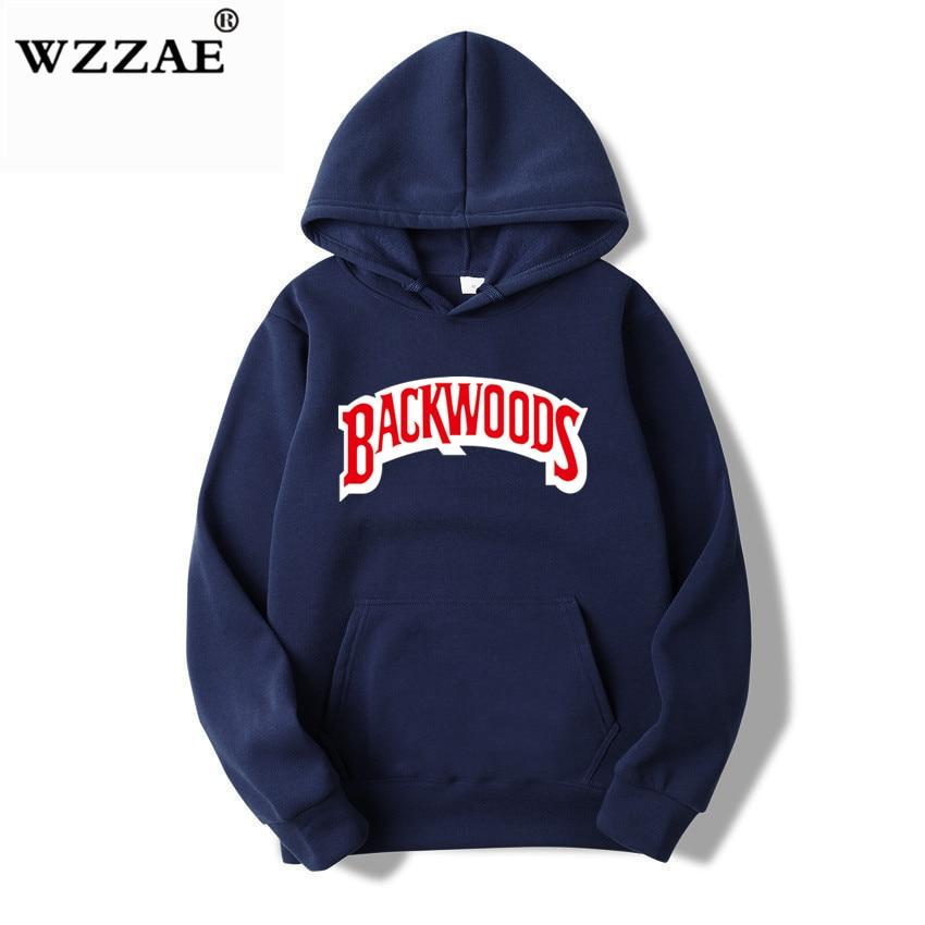 The screw thread cuff Hoodies Streetwear Backwoods Hoodie Sweatshirt Men Fashion autumn winter Hip Hop hoodie pullover Hoody 11