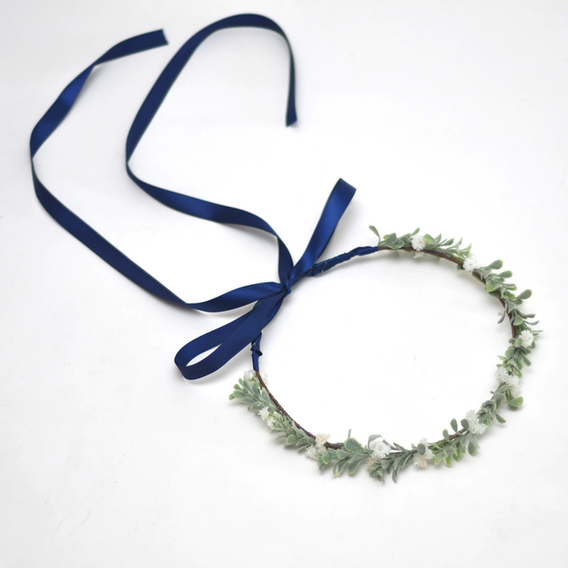 Hot New Handmade Woman Girls Baby Shower Bridal Primitive Rustic Wreath Flower Crown Woodland Tiara