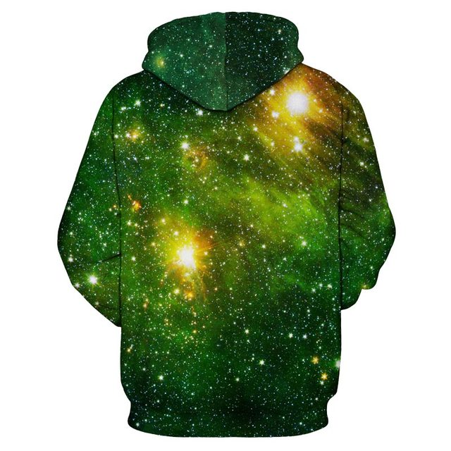 Space Galaxy 3d Sweatshirts Men/Women Hoodies With Hat Print Stars Nebula Autumn Winter Thin Hooded Hoody Tops