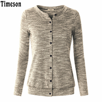Fashion New Spring Autumn Casual Soft Tops Womens Basic Coats Long Sleeve O Neck Front Button