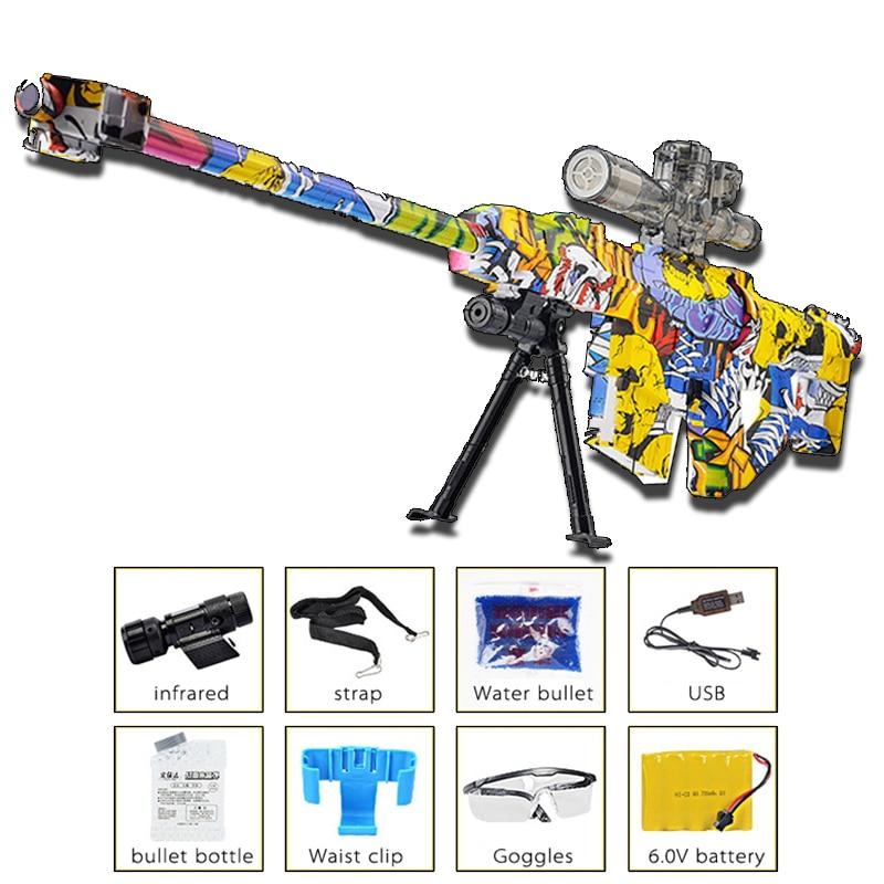 M82A1 Graffiti Sniper Rifle Outdoor fun Sports Live CS Game Airsoft Air Guns Paintball Airsoft Pistol Upscale Toy Gun cosplay цены