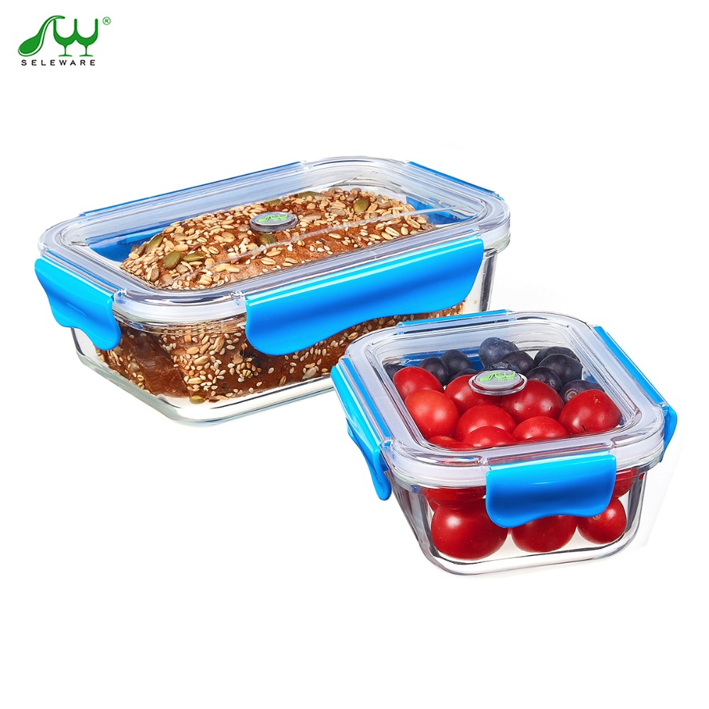 Bento Lunch Box For Food Container Heated Lunch Boxes Glass Snack Box Fine  China Dinnerware Sets Picnic Set Microwave Seleware In Dinnerware Sets From  Home ...