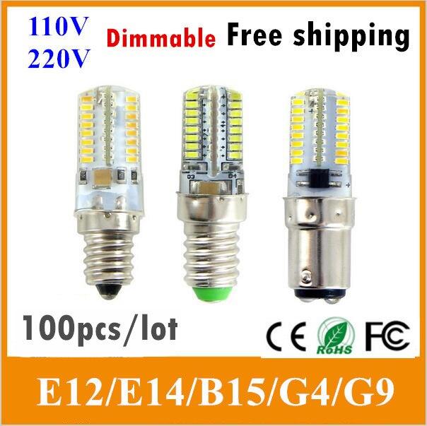 Light Bulbs Led Bulbs & Tubes Vacamm 6pcs Energy Saving Dimmable Light 3014smd 64leds Led Silicone Lamp G8 G4 E17 E14 E11 E12 G9 For Crystal Chandelier Light