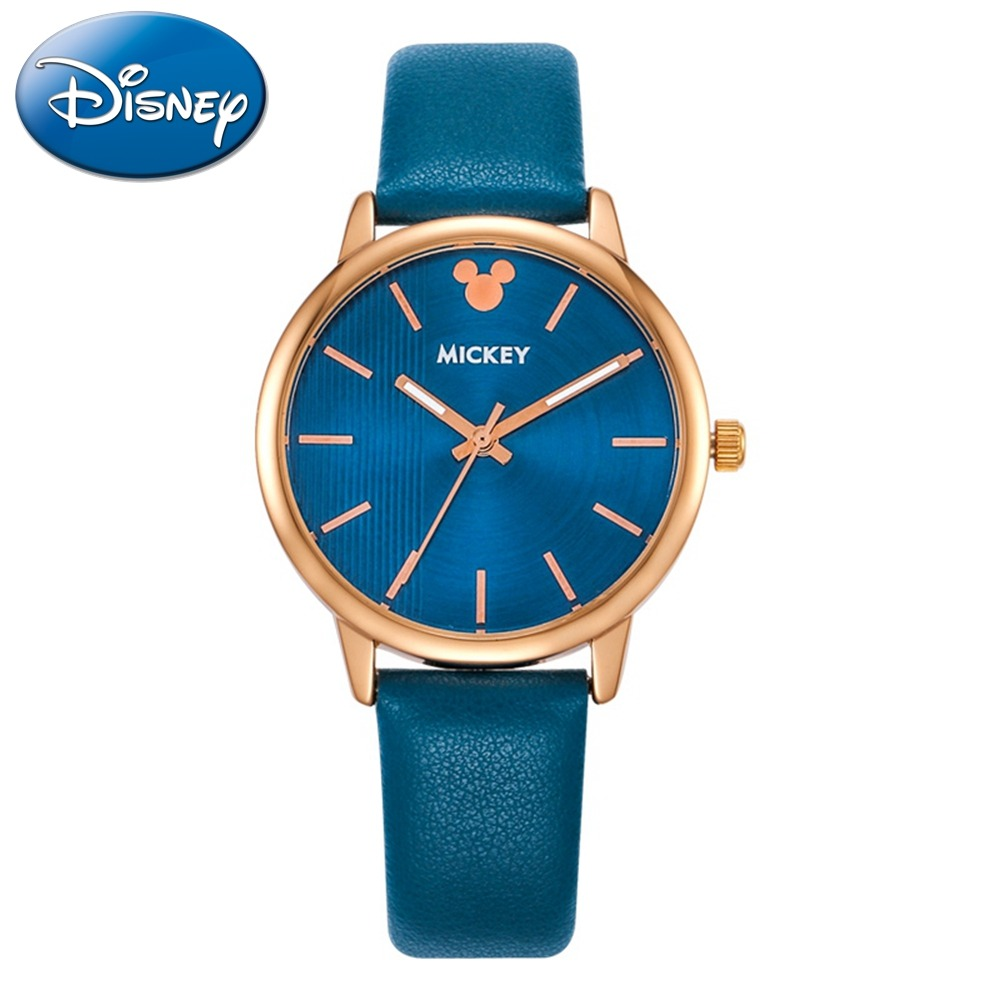 Watches Intelligent Disney Luxury Cartoon Children Watch Kids Watches Girls Princess Fashion Wrist Watches Kids Cute Leather Quartz Watch Girl Carefully Selected Materials