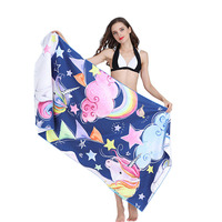 80*160cm Travel Bath Towels for Adults Unicorn Printed Microfiber Towel for Yoga Sport Gym 2018 Absorbent Quick Dry Beach Towel
