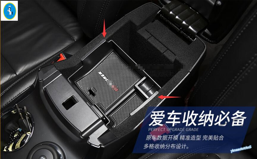 New Style ! 1 Pcs For Ford Explorer 2013 - 2017 Plastic Interior Central Slot Storage Box Decorative Molding