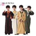 2017 Moda Saudita das Crianças Usar roupas Longas no Oriente médio Muçulmano vestido de vestes