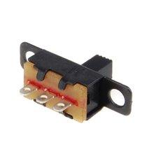 20 штук 5V 0,3 часовой стрелкой в виде Размеры черный SPDT ползунковый Переключатель для небольших DIY Мощность