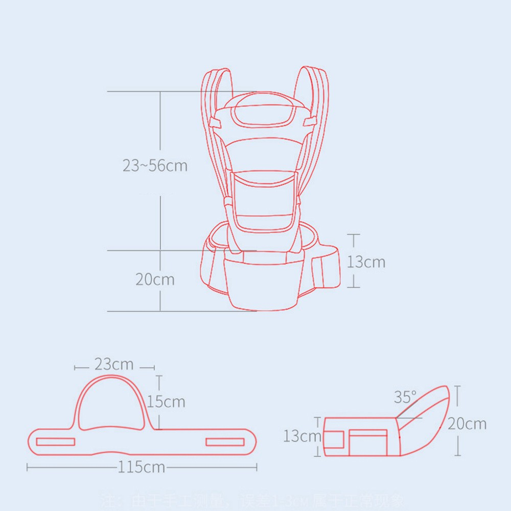 0-48M Ergonomic Baby Carrier Infant Baby Hipseat Carrier Front Facing Baby Wrap Sling For Travel 17
