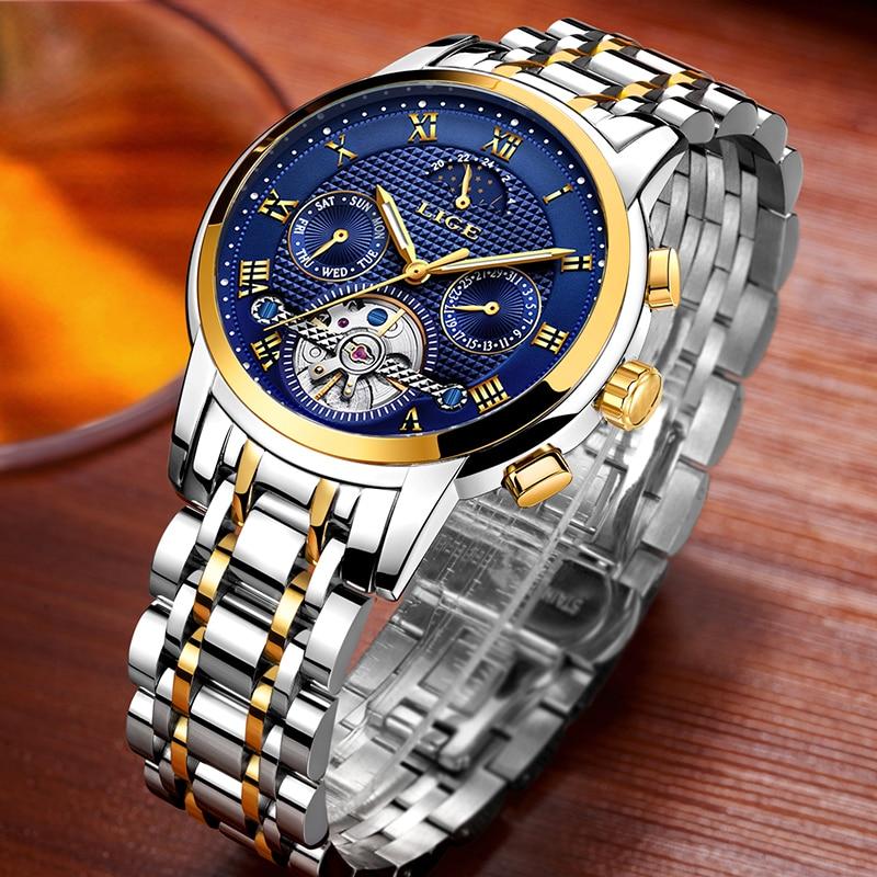 2018Nuevos Hombres Reloj Marca LIGE Mens Impermeable Deporte Relojes - Relojes para hombres