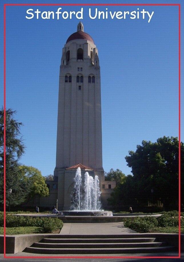 Galleria fotografica 78*54mm <font><b>Hoover</b></font> Torre di Stanford University Memorabilia Fridge Magnet 20115 Grande regalo per Alumni Association