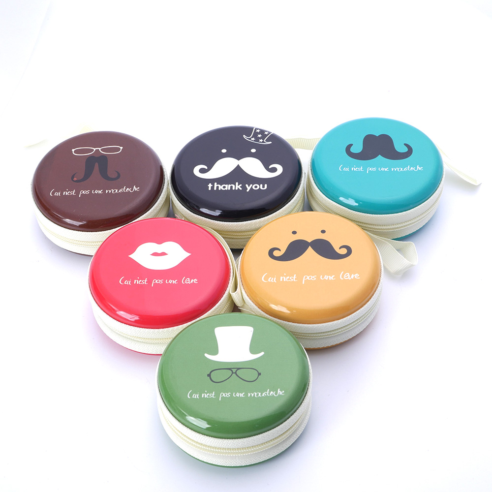 Hard-Bag Box-Case Storage Earphone For Memory-Card Moustache Carrying