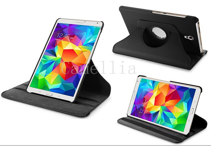 FOR Samsung Galaxy Tab S 8.4 SM-T700 Luxury 360 Rotating Magnetic Smart PU Leather Case Cover (Wake & Sleep Function)