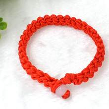 LASPERAL 2018 1PC Fashion Red Thread String Bracelet Lucky Red Handmade Weave Rope Bracelet For Women Men Jewelry Lover Couple(China)