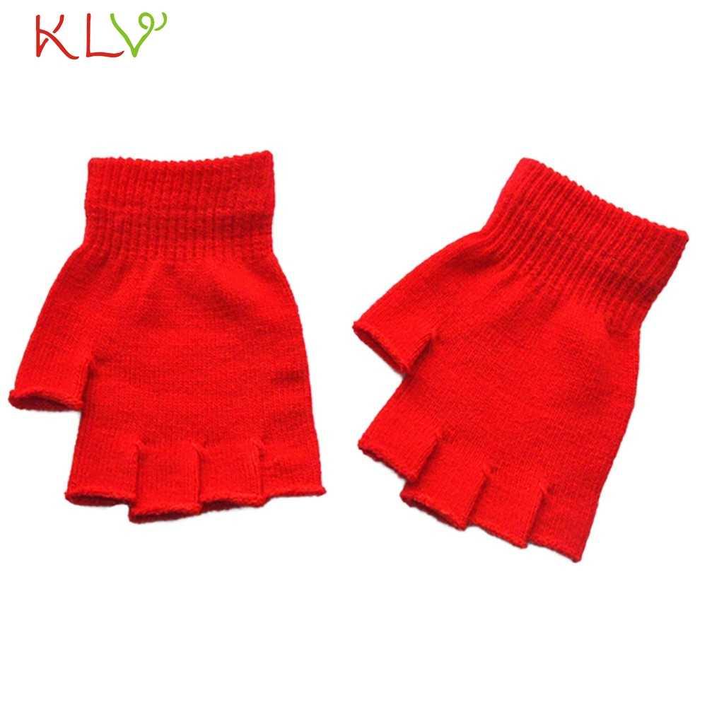 Rękawice kobiety mężczyźni solidna bez palców polar zima ciepłe rękawiczki na jesień panie na rękawiczki damskie rękawiczki Handschoenen 18Nov1