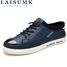 LAISUMK Summer New British Lace Up Shoes Mens Casual MenS Non-Slip Leather All-Match Leisure Breathable Outdoor Flats