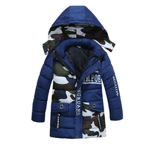 New Arrive 2017 Boys Korean Fashion Winter Warm Thick Coats,Kids Camouflage Printed High Quality Winter Jacket, Baby Boys Coat