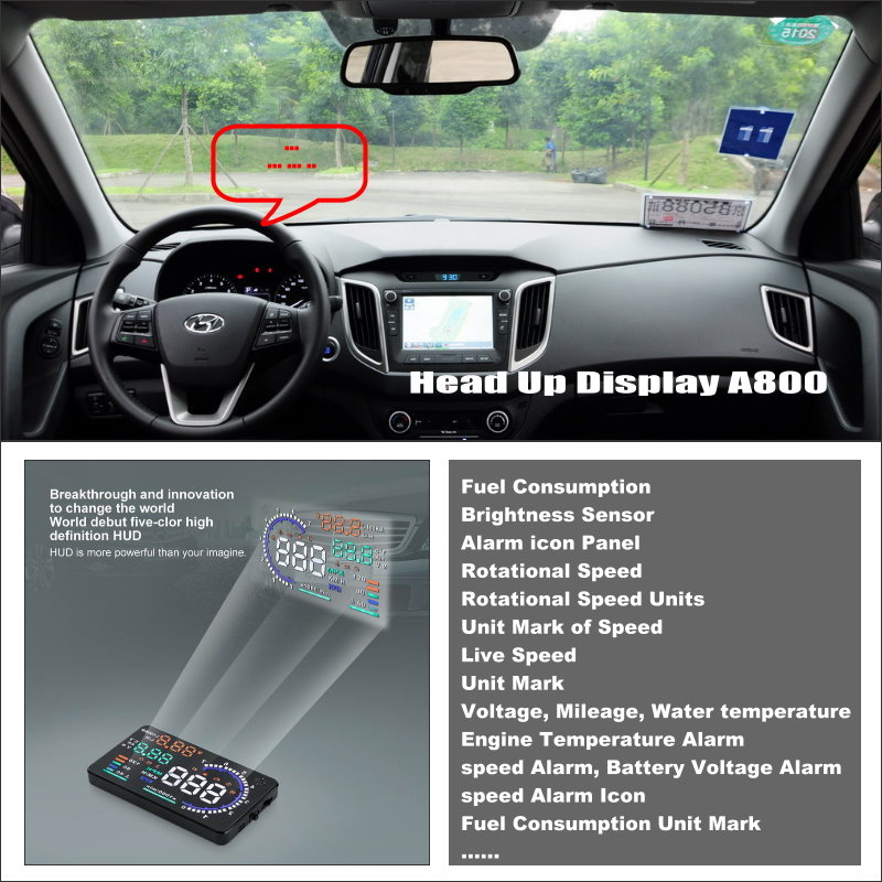 Car Information Projector Screen For Hyundai ix25 2014~2015 - Safe Driving Refkecting Windshield Vehicle HUD Head Up Display