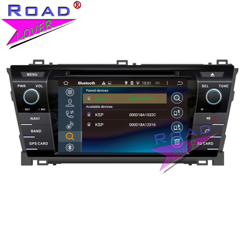TOPNAVI Octa Core 4G+32GB Android 6.0 Car Media Center DVD Player Radio For Toyota Corolla 2013- Stereo GPS Navigation Two Din
