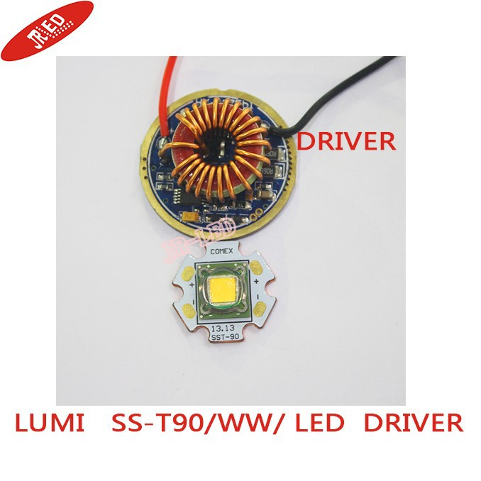 все цены на 1PCS Luminus SST-90 30W LED Emitter 2250LM white 6500k  Warm White 3000K PCB 20mm Copper +SST-90 LED Driver Board онлайн