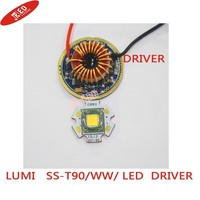1PCS Luminus SST 90 30W LED Emitter 2250LM white 6500k Warm White 3000K PCB 20mm Copper +SST 90 LED Driver Board
