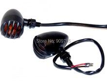 Ámbar Turn Señal Luminosa Bullet Metal negro VLX 600 V Estrella 1300 Virago 1100 XV 1700 1600 Custom Chopper Bobber Cafe Racer Softail