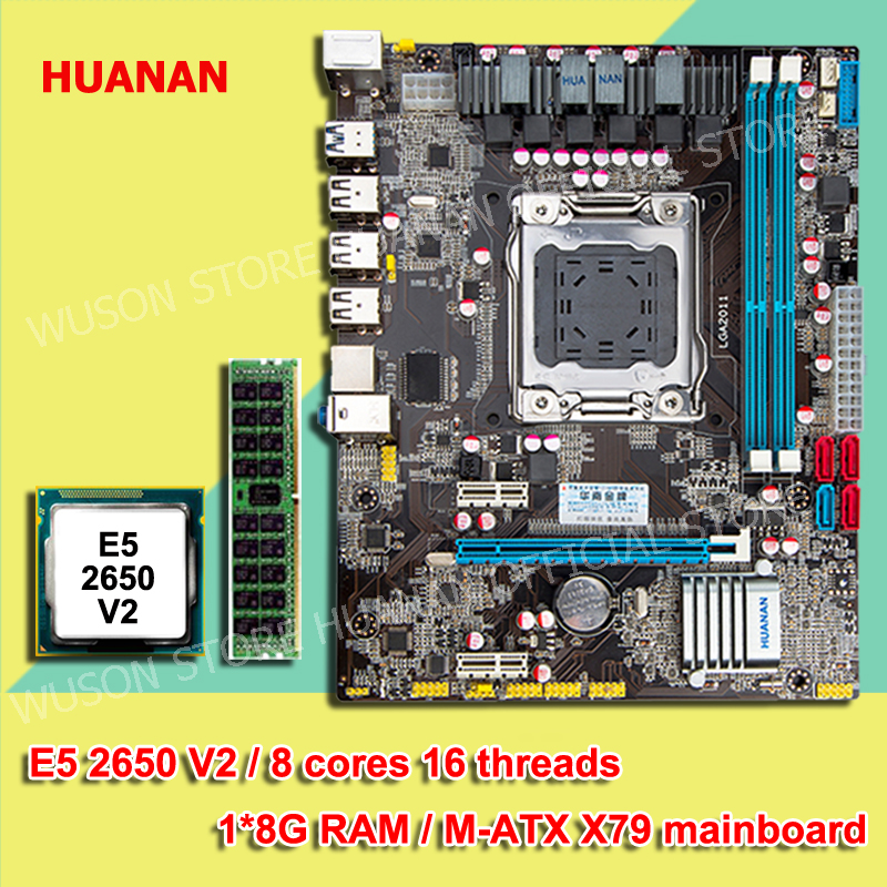 Building computer DIY HUANAN X79 motherboard CPU memory combos CPU Intel Xeon E5 2650 V2 RAM 8G DDR3 REG ECC WUSON recommended new arrival huanan x79 motherboard cpu memory combos x79 lga2011 motherboard cpu intel xeon e5 2670 srokx ram 8g ddr3 reg ecc