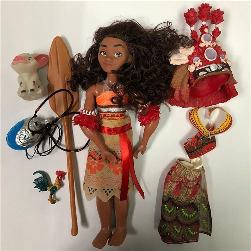 Boneca moana Vaiana Movie Waialiki Maui Heihei տիկնիկների - Խաղային արձանիկներ - Լուսանկար 2