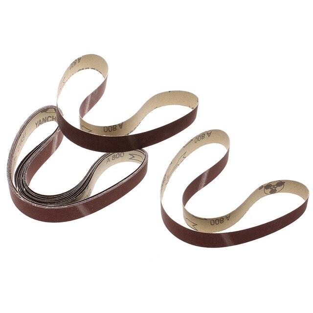 20 pièces bandes abrasives 760x25mm 60-1000 grain bande oxyde papier abrasif pour bois métal ponçage outils abrasifs