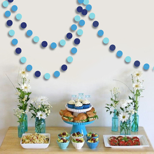 Image 2 - Blue Circle Dot Garlands Streamer for Summer Under the Sea Party Decoration Beach Ocean Bubble Hanging Bunting Banner Backdrop