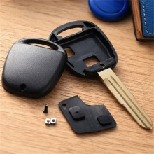 Car Replacement 2 Buttons Remote Key Shell Cover Fob Car Key Case for TOYOTA Prado Tarago Camry Corolla Rav 4 Avensis Echo soft tpu car key case cover keychain for toyota avalon 8 camry 2019 levin ioza chr