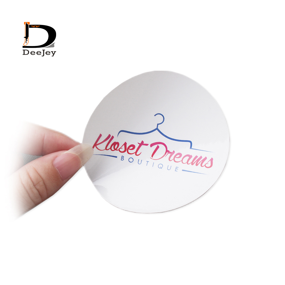 custom sticker logo text printed sticker label tags adhesive small labels color or clear 1000pcs/lot