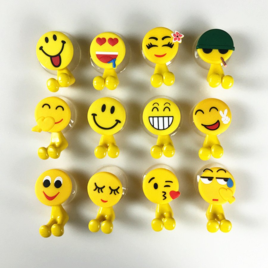 Multifunctional Cute Cartoon Animal Smiling Face cute Cartoon sucker toothbrush holder suction hooks bathroom set accessories image