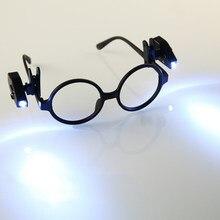 Mini lampe de lecture Flexible et réglable, 2 pièces, veilleuse pour lunettes et outils portables, pince à lunettes universelle