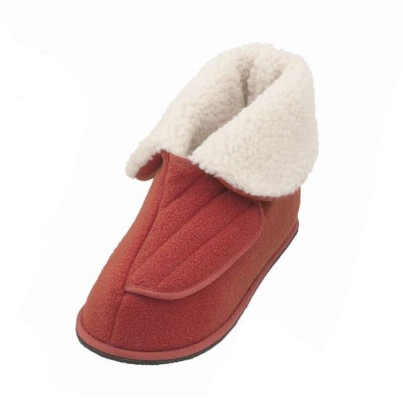 Ayakk.'ten Ayak Bileği Çizmeler'de Yarım açık ağız yaşlı insanlar ayak şişme deformasyon çok fonksiyonlu sağlık ayakkabı ev sıcak ve rahat ayakkabılar'da  Grup 1