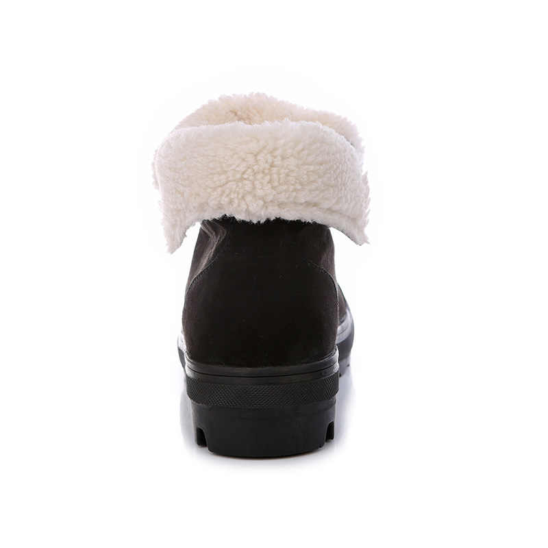 Yeni 2018 Sonbahar Erken Kış Ayakkabı Kadınlar Düz Topuk Çizmeler Moda bayan Botları Marka Kadın Ayak Bileği Botas Sert Taban