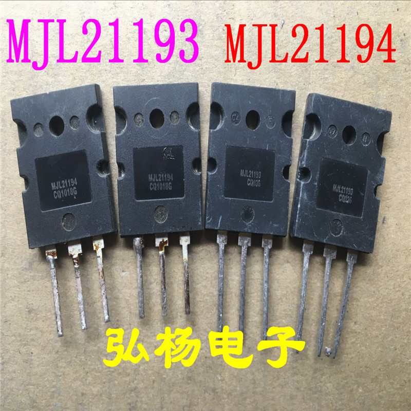 40pcs/lot 20PCS+MJL21193 20PCS+MJL21194 TO-3PL,NPN PNP16 AMPERE COMPLEMENTARY   Brand New In Stock