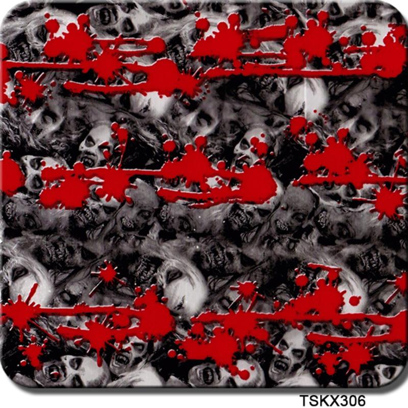 Vereinigt Cskx306 0,5 Mt X 20 Mt Film Hydrographie Blut Mit Zombies Wtp Exquisite Handwerkskunst; Aufkleber & Sticker Motorrad-zubehör & Teile