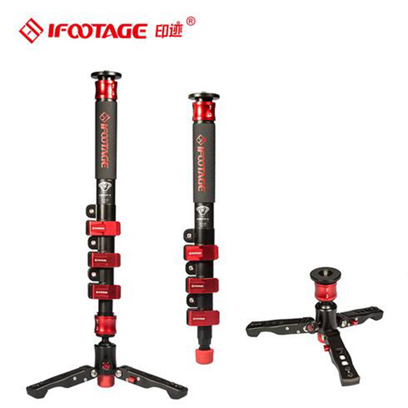 IFootage COBRA 2 Leichte kamera Einbeinstativ 120 CM Carbon Tragbare DSLR Video Einbeinstativ/Einstellbare Kamera Pod