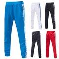 2016 dos homens Casual Harem Sweatpants Jogger Calças Slim de Fitness Musculação Homens Hip Hop Calças Listradas MQ102
