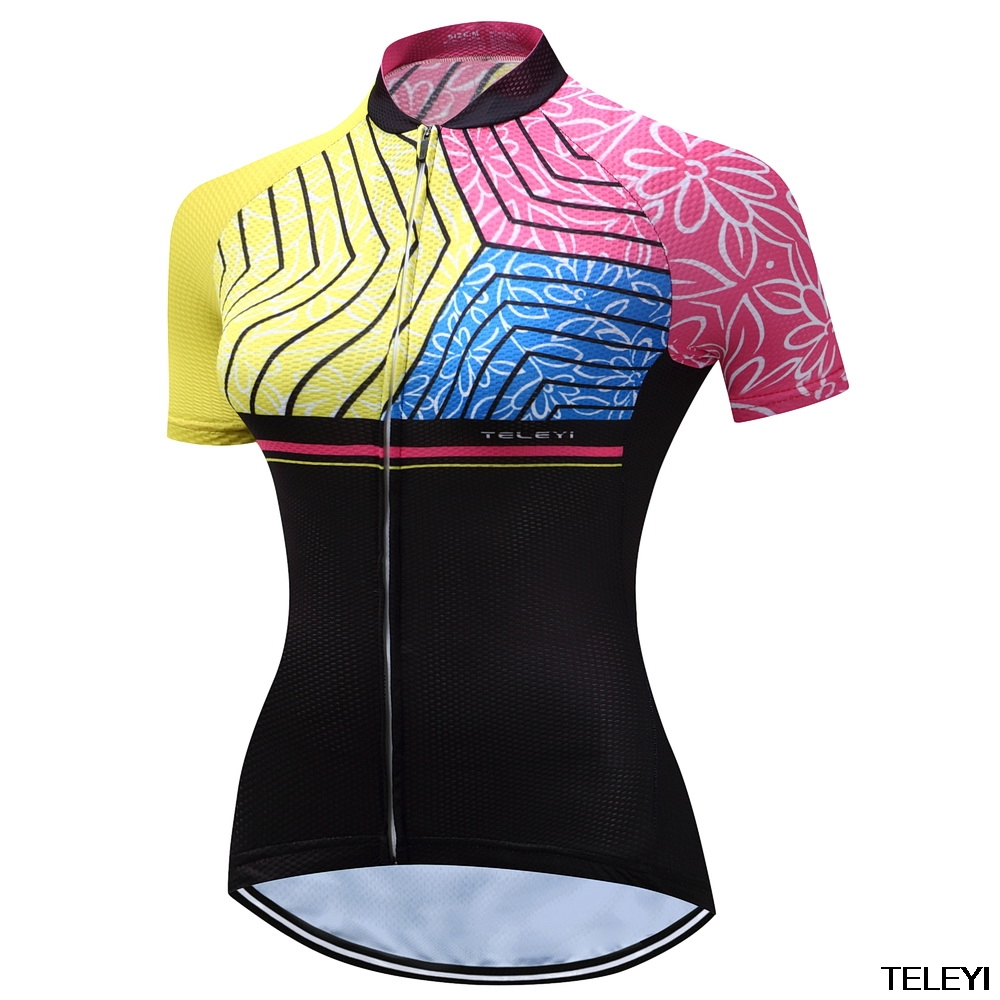 teleyi Women Cycling Jersey Charges Short Sleeve Bicycle Sports Cycling Jerseys Summer P ...