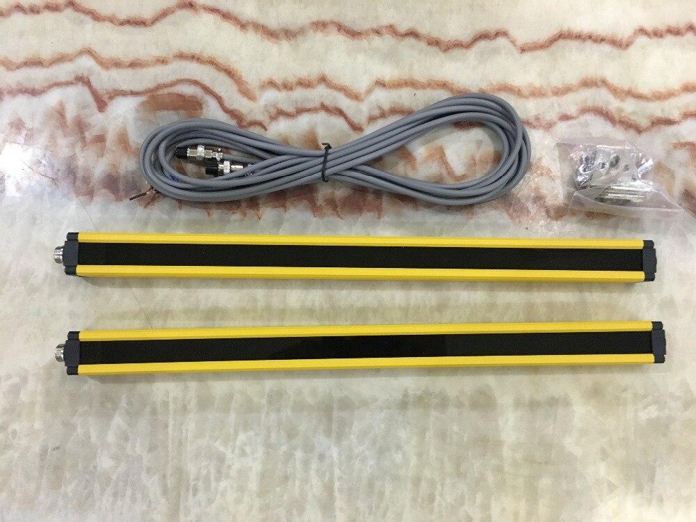 Transistor PNP normalement fermé 12 faisceaux 20 MM lumière rideau sécurité grille hydraulique protection poinçon profession photoélectrique