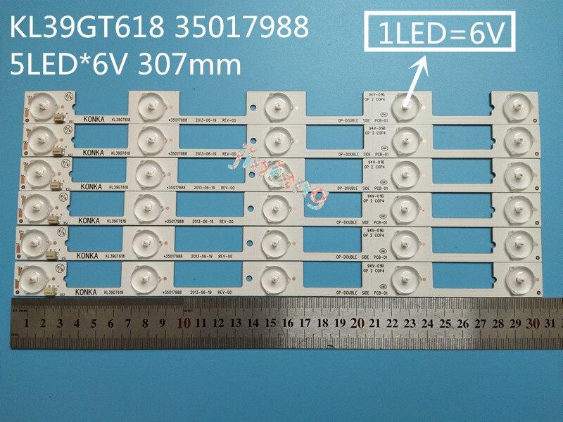 Dutiful 100pcs Led Backlight Lamp Strip For Konka 39inch Tv Kl39gt618 35017988/35017990 5 Leds*6v 307mm Led 6v Computer Cables & Connectors
