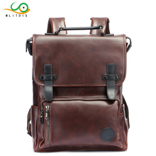 MLITDIS Men Backpacks Rain Cover PU Leather