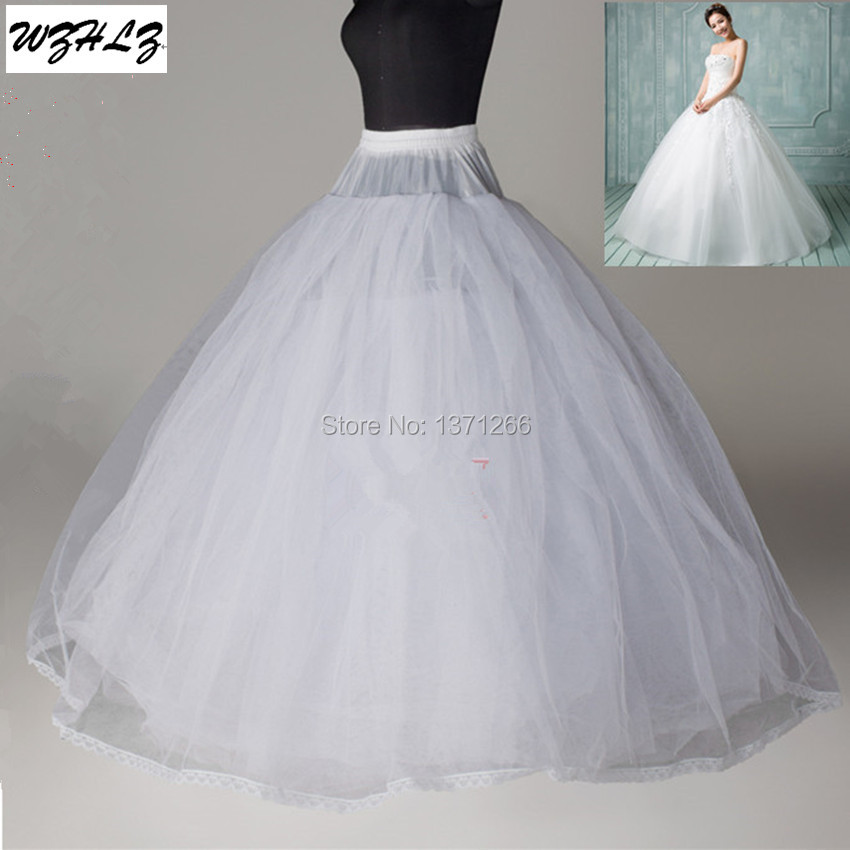 High quality 8 layers tulle no hoop white petticoat for Tulle petticoat for wedding dress