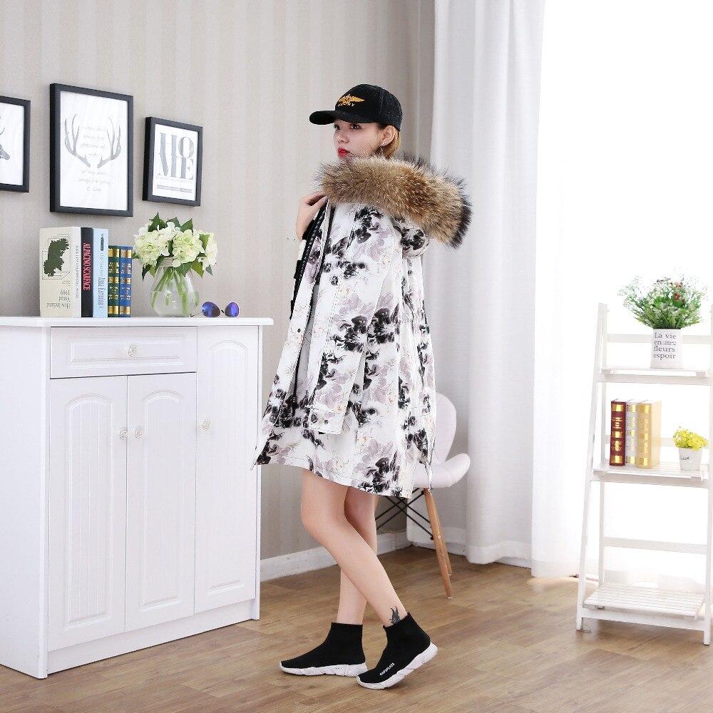 Mode De Fourrure Vison Section Nouvelles Doublure Capuche Veste Surmonter À Manteau Femmes Longue 3Lj5A4R