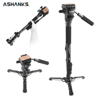 Professional Yunteng VCT 288 Camera Monopod Studio Video Photo Tripod Stand with Fluid Pan Head Unipod Holder for DSLR Cameras