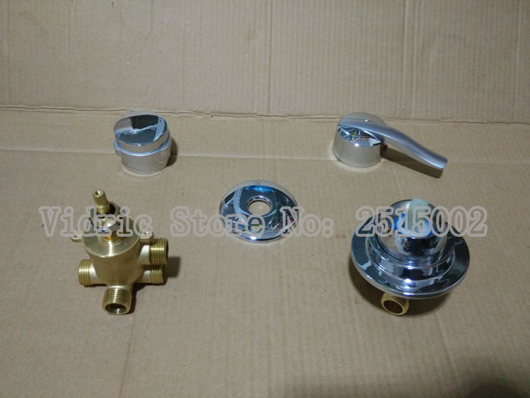Customized 2/3/4/5 gears screw thread/intubation style split valve faucet, shower room mixing valve water tap no connecting hose blanco alta 512319 tap mixing valve oriental style chrome by blanco
