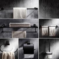 Black Bathroom Sets Soild Brass Towel Bar Brrush Bathroom Accessory Set ,oil Rubbed Bronze Toilet Paper Holder Towel Ring