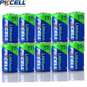 Image 1 - 10 pces * pkcell cr2 15270 cr15h270 3v 850mah cr2 3v bateria de lítio para doorbells gps sistemas de segurança câmera eletrônico dictionari